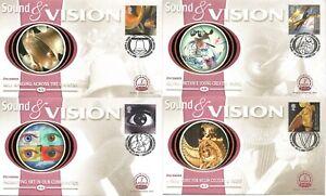 2000 Sound & Vision FDC Benham BS45-48 Limited Edition Millennium Collection SHS
