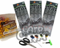 Carp Fishing Tackle Set Hair Rigs 6 8 10 Bag Of Boilies 6pc Baiting Tool Set NGT