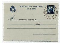 1946 REPUBBLICA DEMOCRATICA BIGLIETTO POSTALE LIRE 5 VIAGGIATO