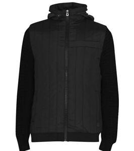 883 Police Men's Ciro Zip Knit Jumper Black (RRP £90) Size L