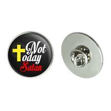 "Not Today Satan Cross Christian Religious 1.1"" Tie Tack Lapel Pin"