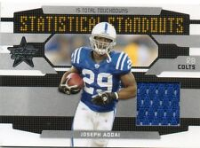 JOSEPH ADDAI 2008 LEAF ROOKIES AND STARS STATICTICAL STANDOUTS GAME-USED 243/250
