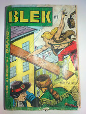 album BLEK  N° 1 avec n° 1.2.3.4.5.6  dedans  LUG 1963 exceptionnel très RARE bd
