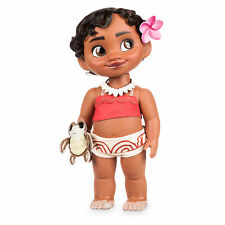 """Disney Store Authentic Princess Moana Baby Toddler BIG 15"""" Toy Doll w/ Turtle"""