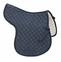 English Hunter or Dressage Saddle Horse All Purpose Quilted Denim Saddle Pad