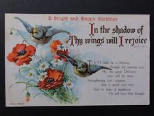 Poppies Postcard: In The Shadow of Thy Wings Will I Rejoice...Psalm 63.7 Old PC