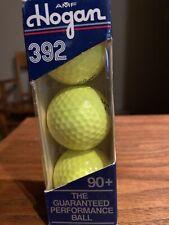 1 Sleeve 3 Balls VINTAGE Golf Ball  HOGAN 392 Surlyn 90+ AMF