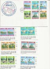 "1980 Jersey - ""Royal Geo. Soc."" - Fdc + 6 Blk/4 + 6 Pair + 6 Single + Info Sheet"
