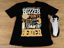 Air Jordan Retro 12 XII Taxi Black Yellow Buzzer T-Shirt Mens Size Lg Large New