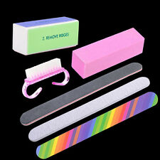 6 Pcs Nail Art Tips Sanding Files Polish Acrylic Block Buffer Manicure Tool Set