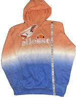 NWT Ellesse Men's OH Hoodie Tie Dye Embroidered Hoody Sz XL Blue Peach MSRP $105