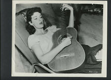 JANE RUSSELL PLAYS A GUITAR - 1955 CANDID ON SET BETWEEN TAKES - THE TALL MEN