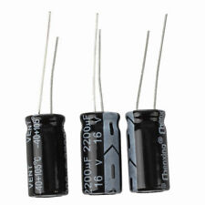 10x(3 x 2200uF 16V 105C Radial condensatore elettrolitico 10x20mm