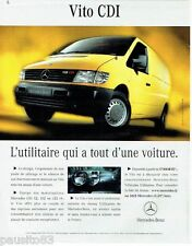 PUBLICITE ADVERTISING 116  2002  Mercedes-Benz  le Vito 108  Cdi