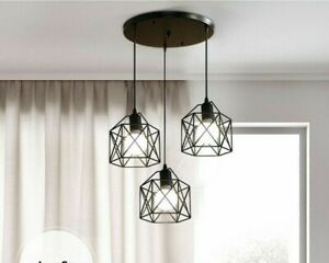 Rustic Industrial Pendant Lamp Geometry Iron Pendant Lights Kitchen Island Lamp