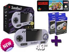 Retro Supa Boy S Portable Super Nintendo Konsole + Mario Kart und 2 Controllern