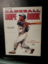 Vintage baseball dope book pictures stat sporting news records 1973 hank Aaron