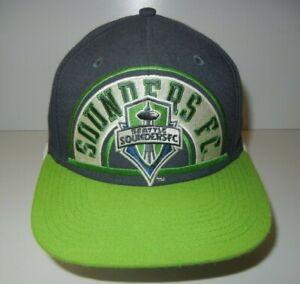 Adidas SEATTLE SOUNDERS FC Big Logo MLS SOCCER SNAPBACK Fan Hat Baseball Cap
