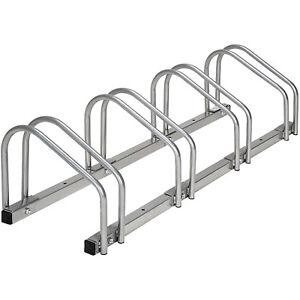 Rastrelliera portabici per 4 biciclette bicicletta bici supporto pavimento paret