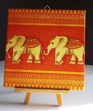 Bild Dekofliese Geburtstag Danke Mitbringsel Geschenkidee Elefanten (050)