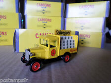 CAMIONS D ANTAN CORGI  CHEVROLET DELIVERY PUBLICITE SCHWEPPES TOY TRUCK, VEHICLE
