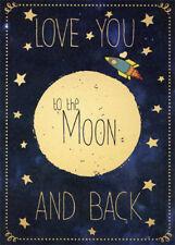 Moon and Back Tree-Free Greetings Romantic Birthday Card