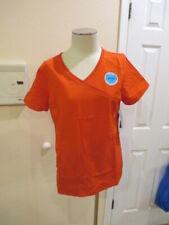 ScrubStar Womens Scrub Top Small Medical short sleeve NWT Mock wrap chili red