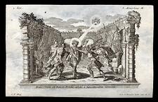 santino incisione 1700 S.ALMACHIO M. DI ROMA.  klauber