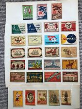 Matchbox Covers; about 120; Foreign Countries; Sweden etc; 1900's