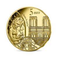 PIÈCE DE 5 EURO FRANCE OR BE PROOF 2020 - EUROPA / NOTRE-DAME / GOTHIQUE