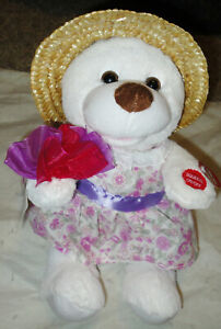 """CHANTILLY LANE 11"""" KAY BEAR  w/ FLOWERS SINGS & MOVES To Know You is To Love You"""