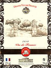 Etiquette de vin - Vin de France - La Gloire - 2010