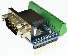 DB15HD VGA Male Breakout Board,D-Sub, Side mount, (Male) eLabGuy D15HD-M-BO-V1AS