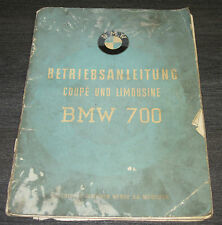Betriebsanleitung BMW 700 Coupe und Limousine Stand September 1960
