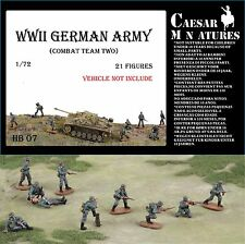 Caesar Miniatures HB07  - WW2 German Army Combat Team Two        1:72 Figures