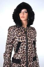 NEW JUICY COUTURE JG007034 TIGER'S EYE COMBO CHEETAH DOWN PUFFER COAT JACKET~S