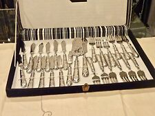 ELEGANT SILVER PLATED FISH SET FOR 12 MARKED 800 BOXED UNUSED