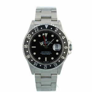 Rolex GMT Master II 16710 40mm Black Dial and Bezel Stainless Steel 2006