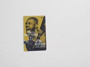 JON JONES vs OVINCE SAINT PREUX Key Card MMA Mixed Martial Arts UFC Sports VTG