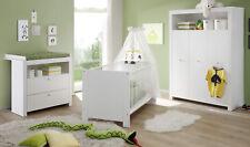 Babyzimmer Kinderzimmer weiß komplett Set neu Olivia 3-teilig Baby Zimmer Möbel