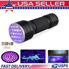 21 LED 395 nM UV Ultra Violet Blacklight Flashlight For CSI Inspection Light DG