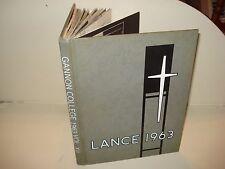 1963 GANNON COLLEGE Erie Pennsylvania PA University THE LANCE YEARBOOK Pics