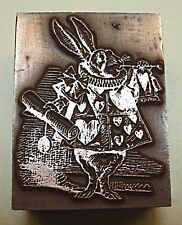 """THE WHITE RABBIT"" (ALICE IN WONDERLAND) Printing Block."