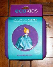 Crocodile Creek PRINCESS Purple Sandwich Keeper Eco Kids Hinged School Lunch NEW