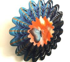 """Iron Stop,"""" The Original Wind Spinner"""" Animated Butterfly, 20 Gauge Steel"""
