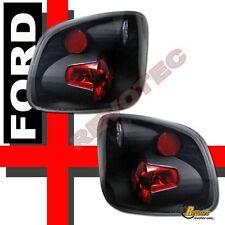 1997-2000 Ford F150 Lightning Flareside Pickup Black Tail Lights Lamps RH + LH