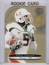ANDRE JOHNSON 2003 Fleer Ultra GOLD MEDALLION ROOKIE CARD Miami Hurricanes RC