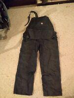 Vintage denim carpenter's overalls size Men's L  Donnco brand multiple pockets