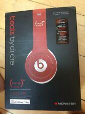 Beats by Dr. Dre Solo HD Auriculares en rojo en excelentes condiciones