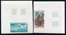 St Pierre und Miquelon 1976 Olympiade Olympics U Imperf 519-20 MNHKW €70
